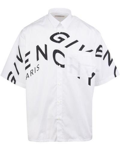 Biała koszula krótki rękaw - biała Givenchy