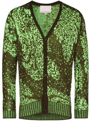Zielony kardigan z akrylu z długimi rękawami Paria /farzaneh