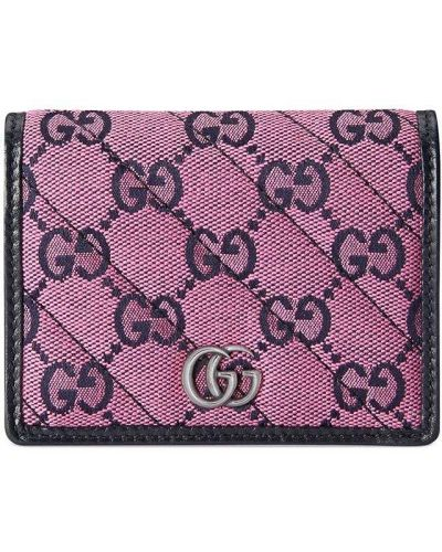 Różowy portfel skórzany Gucci