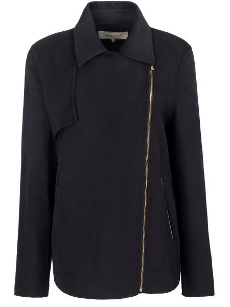 Синее шерстяное пальто с воротником на молнии Gerard Darel
