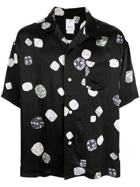 Czarna satynowa koszula Visvim