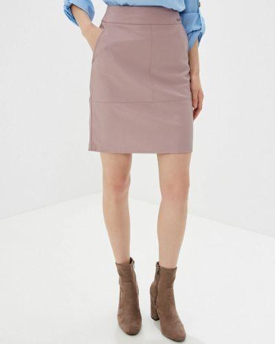 Кожаная юбка розовая киргизский Zarina