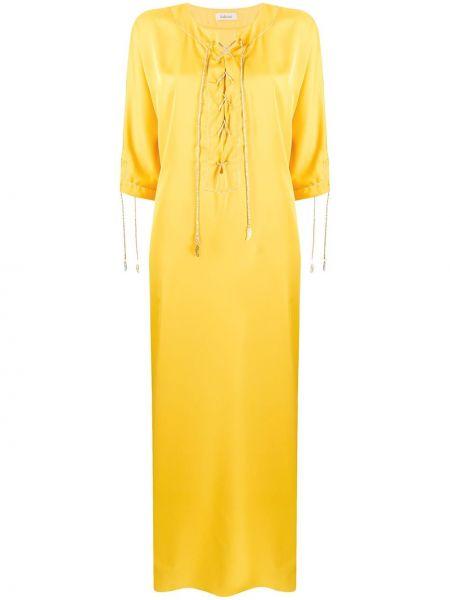 Платье макси на шнуровке трапеция Kalmar