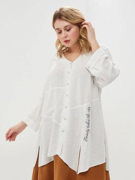 Белая блузка с длинным рукавом Panda