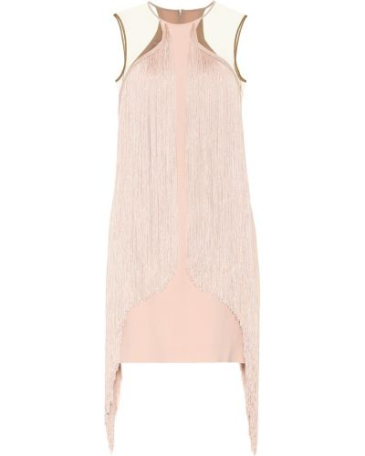 Платье мини с бахромой из вискозы Stella Mccartney