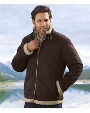 Кожаная куртка утепленная замшевая Atlas For Men