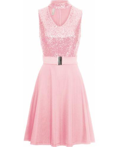 Вечернее платье с пайетками розовый Bonprix