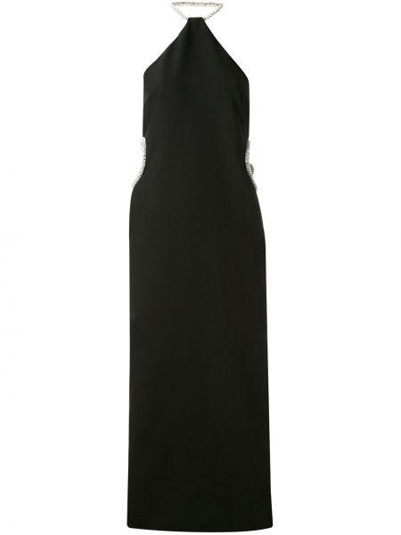 Платье миди с открытой спиной черное Christopher Esber