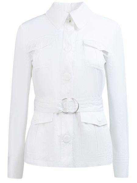 Белый пиджак с воротником с карманами на пуговицах Michael Kors