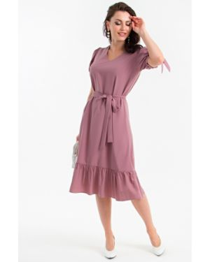 Платье с поясом платье-сарафан с оборками Lady Taiga