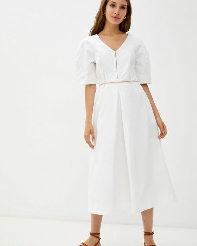 Белое платье а-силуэта Zarina