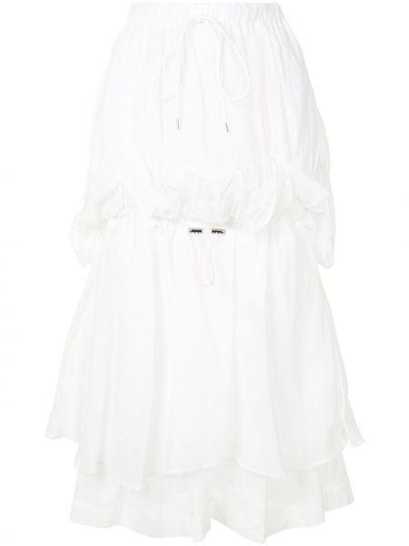 Bawełna bawełna biały spódnica z falbankami Enfold