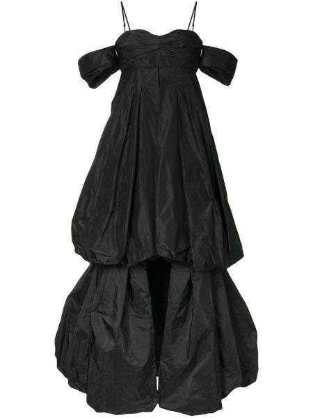 Открытое приталенное шелковое платье с драпировкой Vera Wang