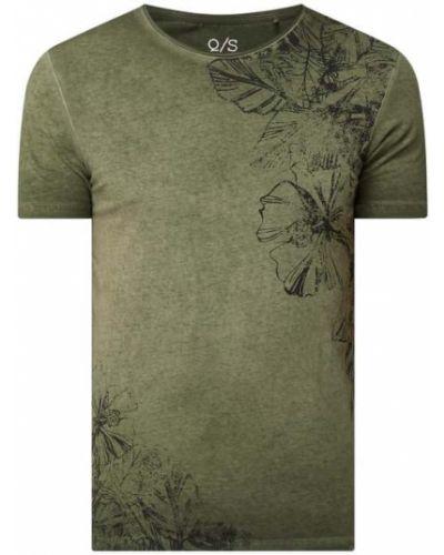 T-shirt z printem - zielona Q/s Designed By