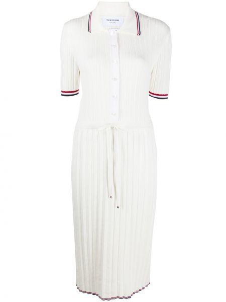 Sukienka mini elegancka krótki rękaw z wiskozy Thom Browne