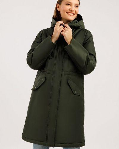 Пуховый пуховик - зеленый Finn Flare