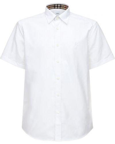 Bawełna bawełna biały koszula Burberry