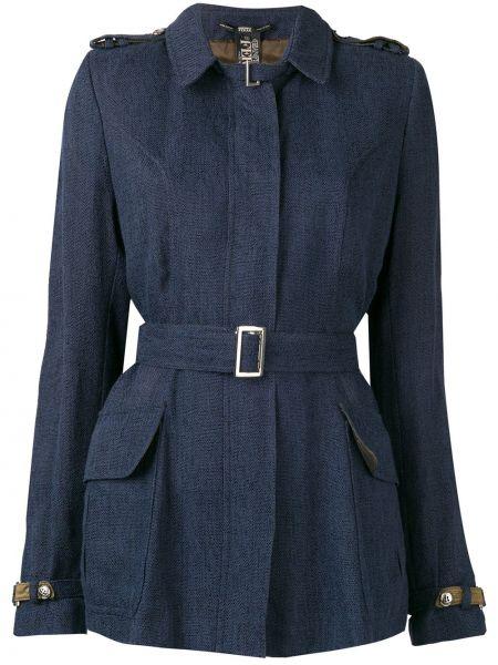 Классическая синяя куртка с манжетами Gianfranco Ferre Pre-owned