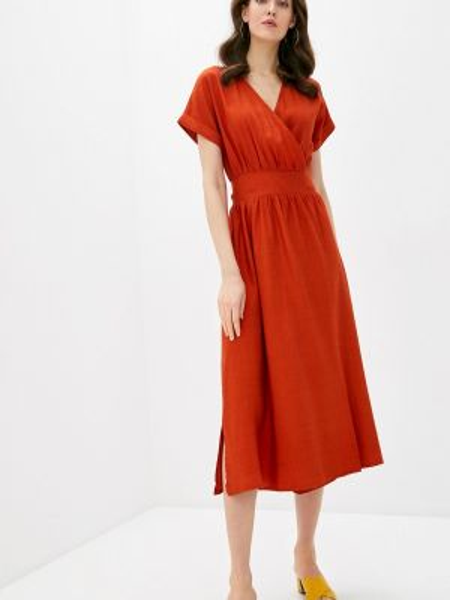 Оранжевое платье Mondigo