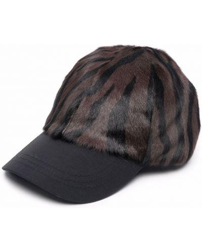 Brązowa czapka z daszkiem Simonetta Ravizza