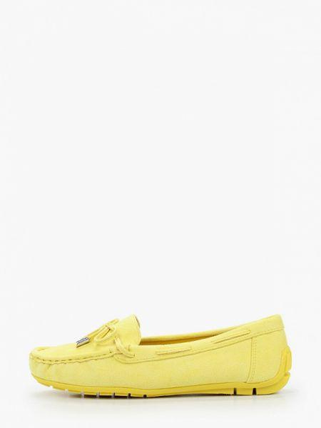 Мокасины замшевые желтый Bellamica