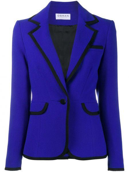 Niebieska kurtka wełniana Osman