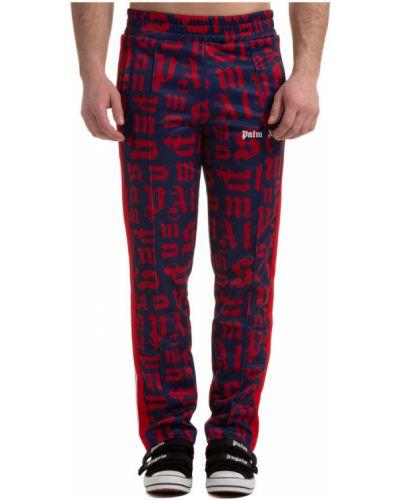 Czerwone spodnie sportowe bez zapięcia Palm Angels