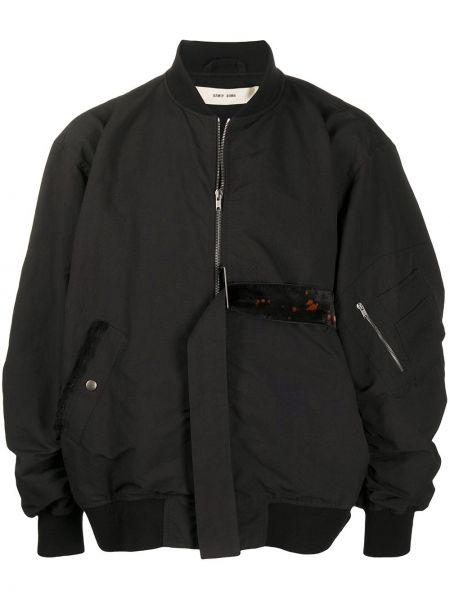 Czarna długa kurtka bawełniana z długimi rękawami Damir Doma