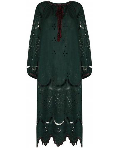 Зеленое платье с завязками Vita Kin