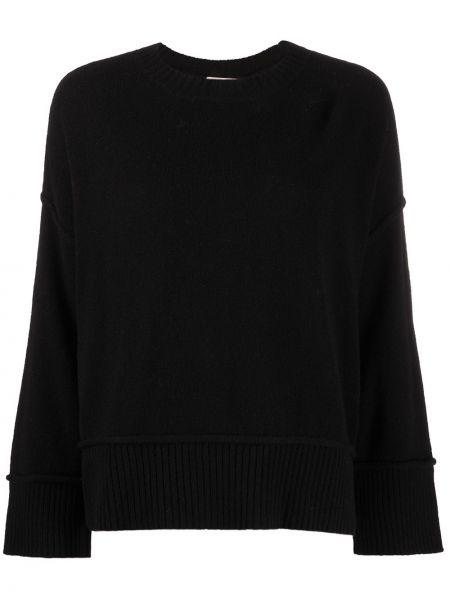 Czarny sweter wełniany z długimi rękawami Twin Set