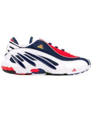 Кожаные кроссовки темный белый Adidas