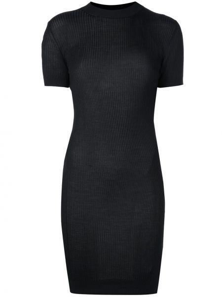 Облегающее платье мини - черное Vera Wang