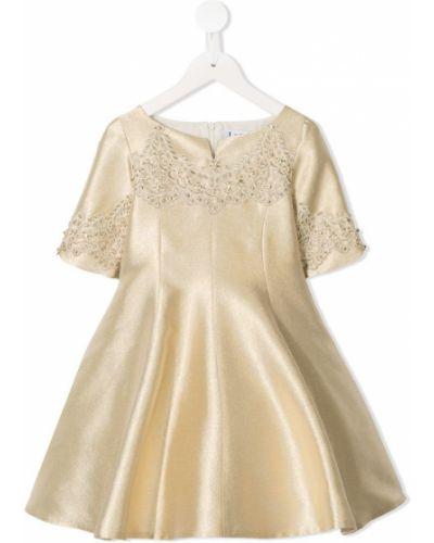 Платье с рукавами плиссированное желтый Lesy