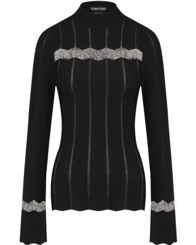 Пуловер с воротником - черный Tom Ford