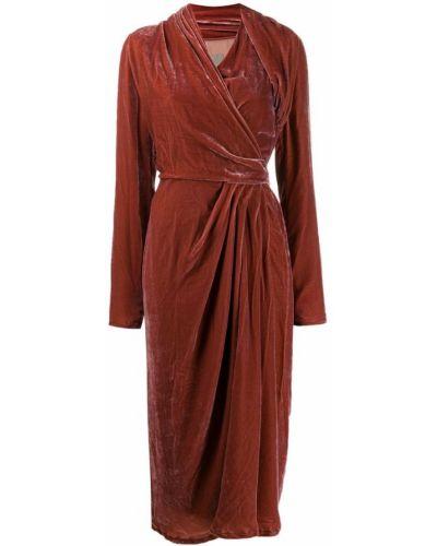 Платье макси розовое с запахом Rick Owens