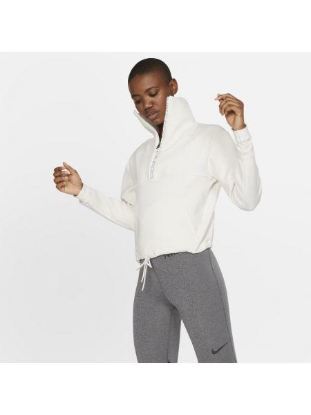 Ze sznurkiem do ściągania miękki bluzka z dekoltem z kołnierzem Nike