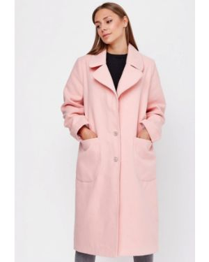 Розовое пальто с капюшоном Sfn