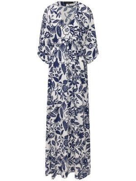 Платье макси с цветочным принтом с поясом Pietro Brunelli