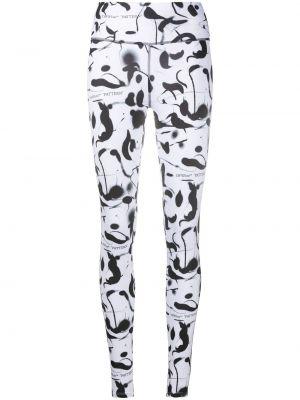 Biały legginsy rozciągać Off-white