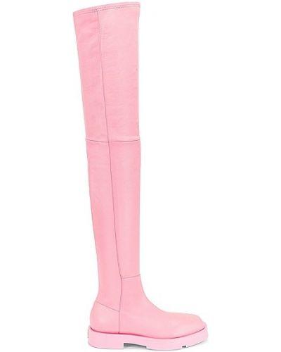 Różowe kozaki na platformie Givenchy