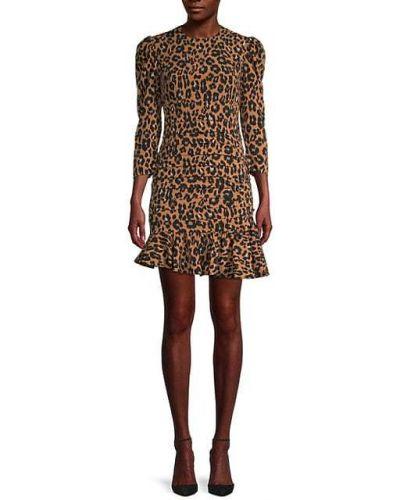 Асимметричное приталенное платье мини с оборками Bardot