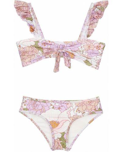 Розовые бикини с завязками эластичные Zimmermann