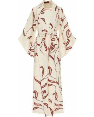 Теплое платье с цветочным принтом льняное Johanna Ortiz