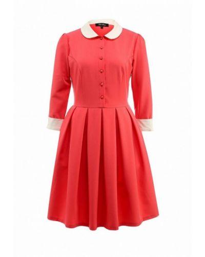 Повседневное платье розовое осеннее Luann