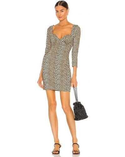 Шелковое платье мини - коричневое Lpa
