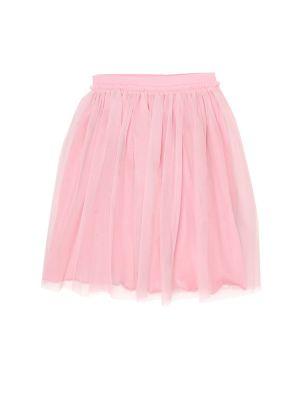 Bawełna rozbłysnął różowy spódnica z tiulu Il Gufo