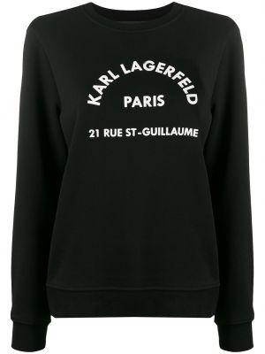 Толстовка с принтом - черная Karl Lagerfeld
