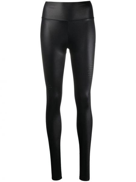 Spodni czarny spodnie wysoki wzrost z ozdobnym wykończeniem Off-white