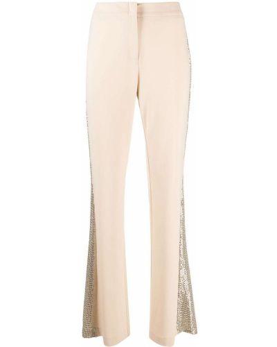 Брючные расклешенные с завышенной талией брюки с полоской по бокам D.exterior
