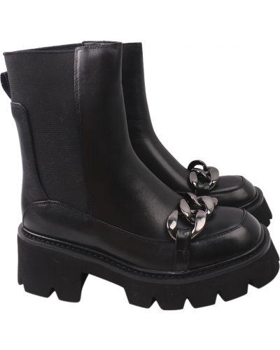Кожаные ботинки - черные Brocoly